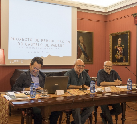 "Conference ""The Restoration of the Castle of Pambre"" at the Royal Galician Academy of Fine Arts"