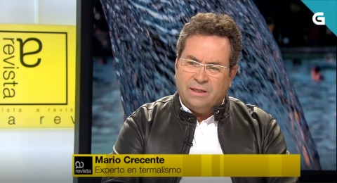 Interview with Mario Crecente in the TV program A Revista FDS (Television of Galicia)